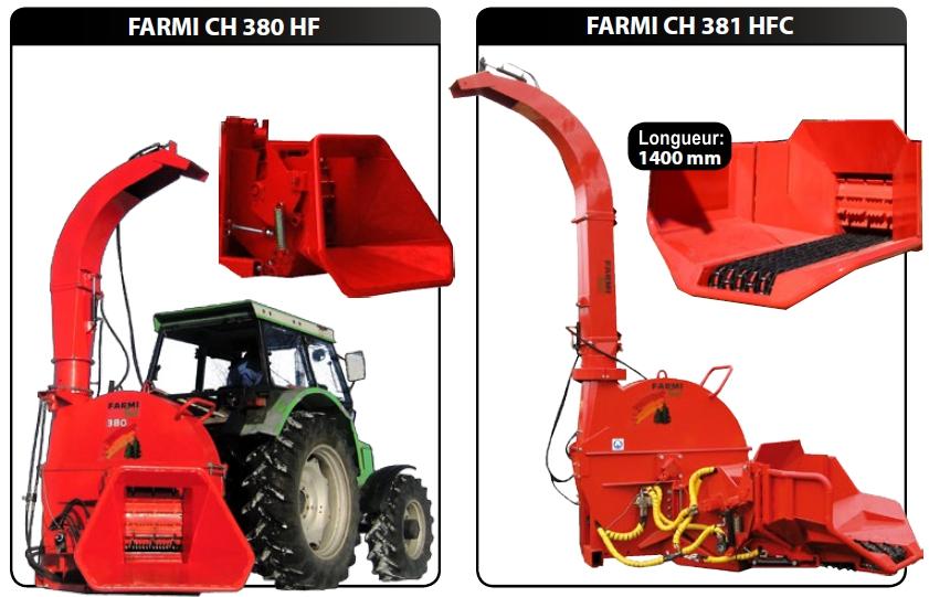 CH380HF avec alimentation à rouleaux et CH381HFC avec convoyeur