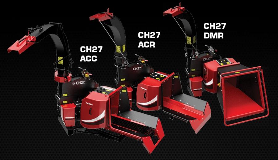 Le chipper biomasse FarmiForest CH27 existe en trois versions