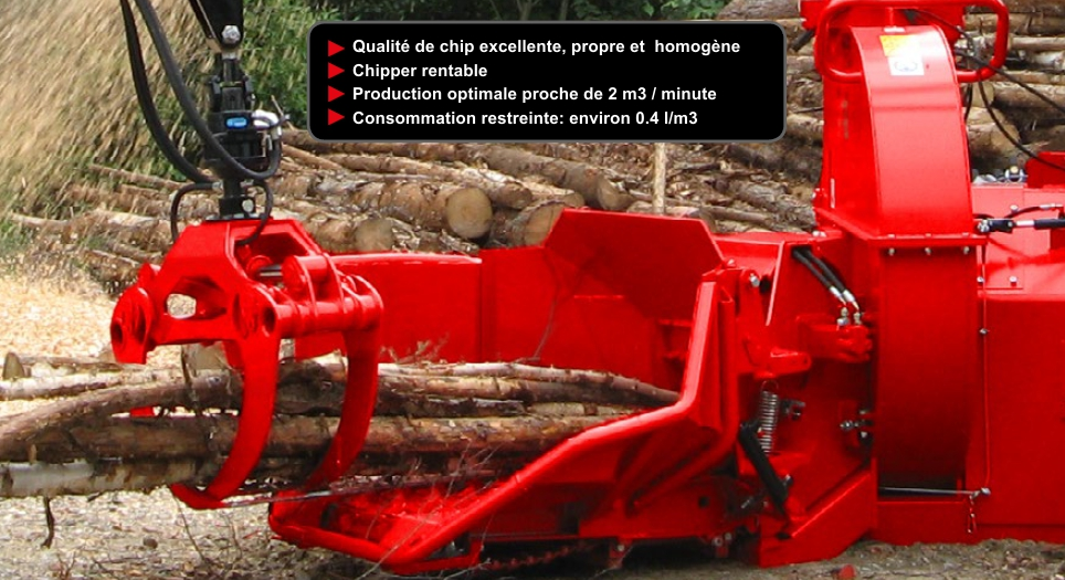 Production de copeaux avec chipper robuste CH380
