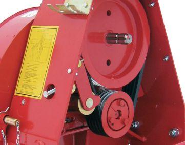 Le CH18 peut être équipée d'une transmission à courroie pour augmenter la vitesse