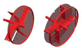 Disque simple et disque double pour le chipper CH18